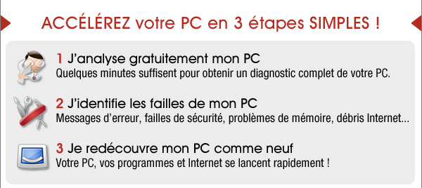 Accelerez votre PC en 3 etapes simples